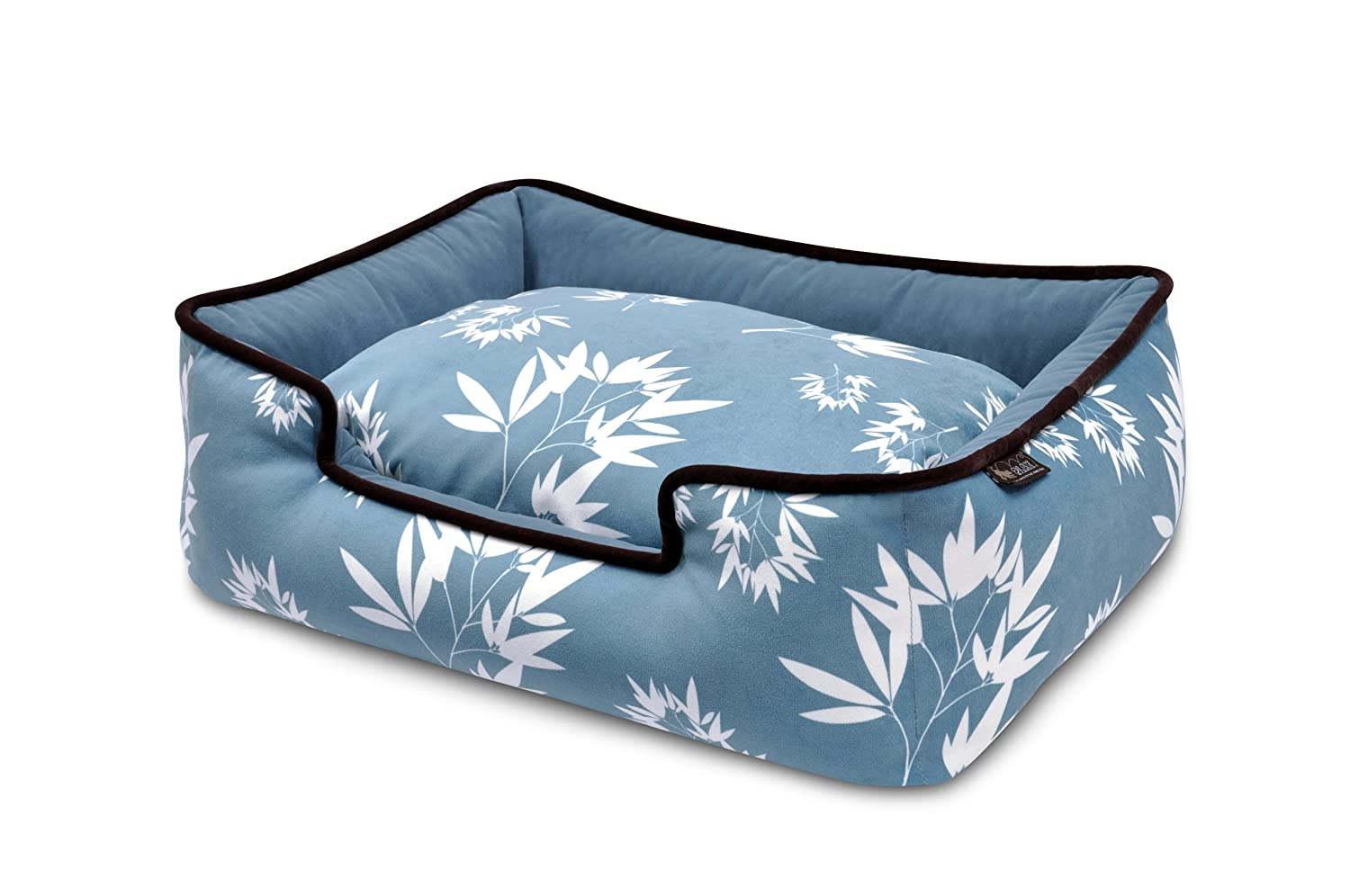 bluee  Bamboo MediumP.L.A.Y. (Pet Lifestyle And You) Lounge Bed  Denim  Brown  M