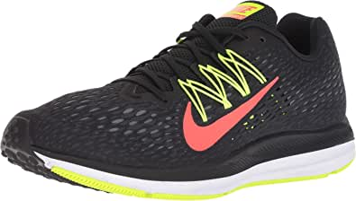 Nike Men's Air Zoom Winflo 5 (Black/Bright Crimson-Volt, 8.5)