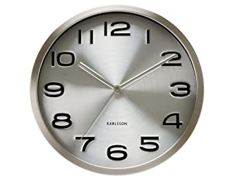 Karlsson Steel Wall Clock Modern Decorative Clock For Kitchens And Home Decor