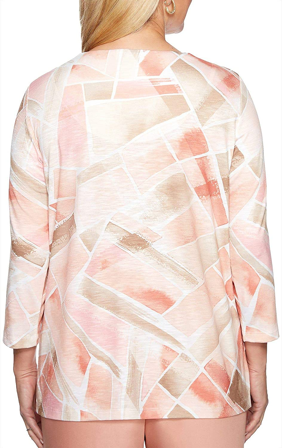 Alfred Dunner Womens Good to Go Stained Glass Top