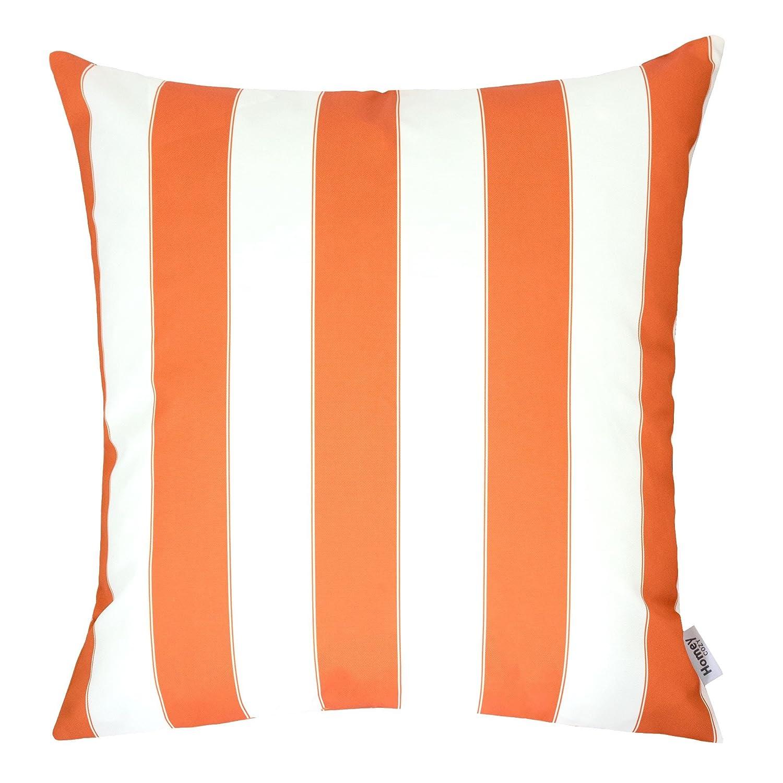 Amazon Com Homey Cozy Outdoor Throw Pillow Cover Classic Stripe