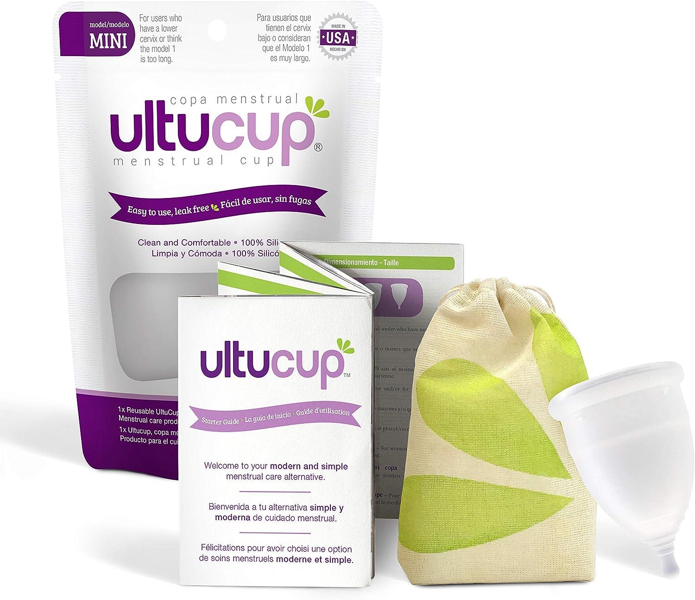 UltuCup Menstrual Cup – Hecho en Estados Unidos – La alternativa suave, reutilizable y natural cero residuos a tampones y almohadillas, producto de ...