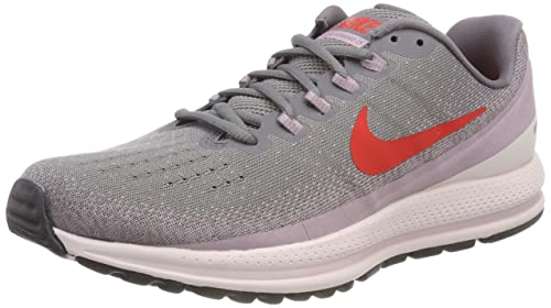 ff432681e4258 NIKE Women s Air Zoom Vomero 13 Running Shoe Gunsmoke Habanero  Red-Elemental Rose 11.0