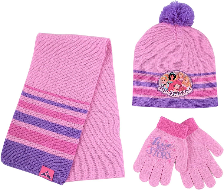 Lora Dora Girls 3 Peice Striped Glitter Woolly Hat Scarf Gloves Winter Warm Set Kids Xmas Gift