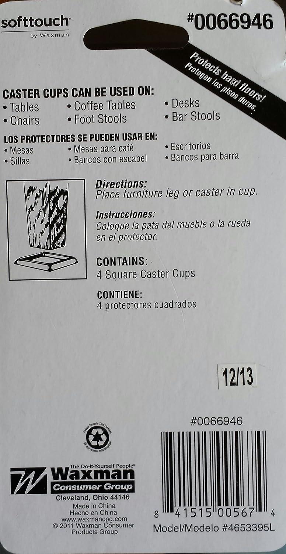 Waxman 4-Pack 2 inch Walnut Smooth Caster Cups - - Amazon.com