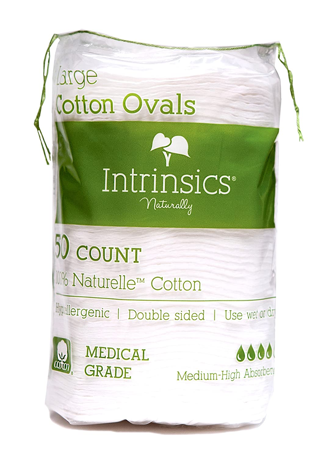 "Intrinsics Large Oval Cotton Pads 3"" - 50 Count"