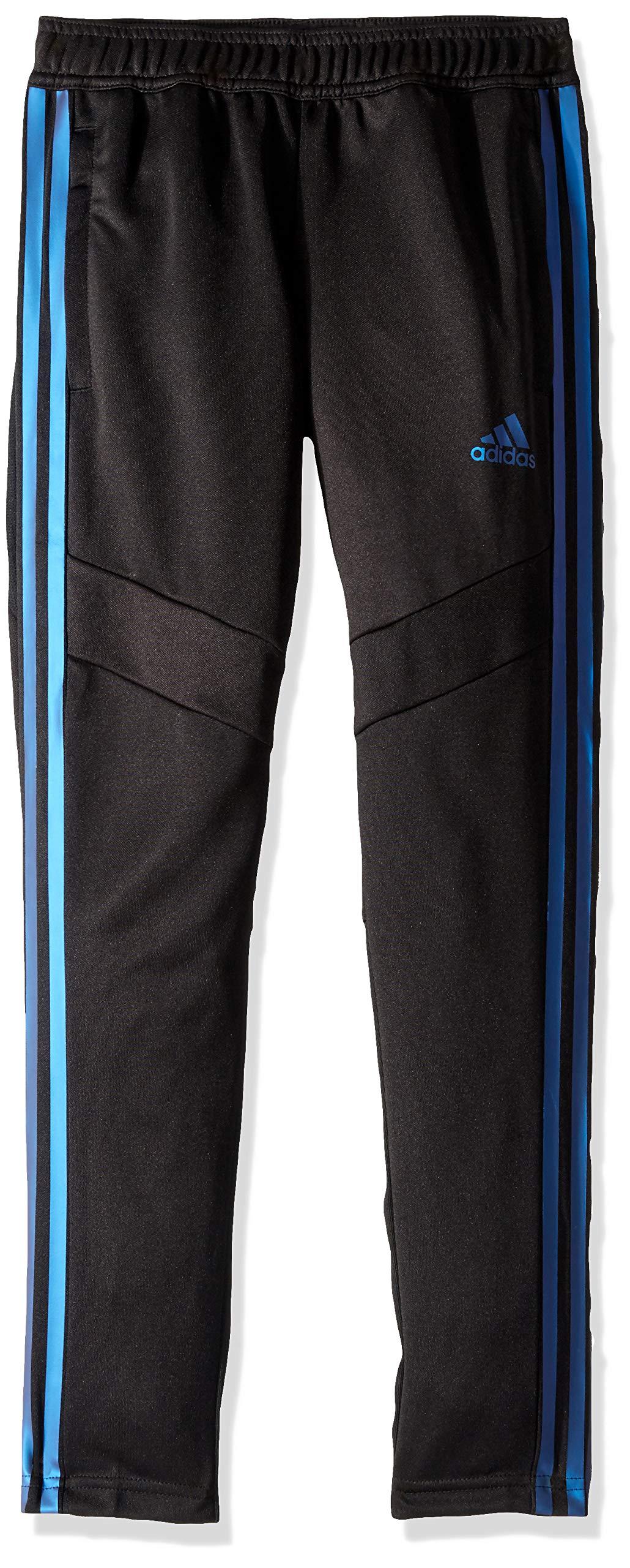 adidas Originals Boys' Big Tiro 19 Pant, Black/Blue Pearl Essence, Small