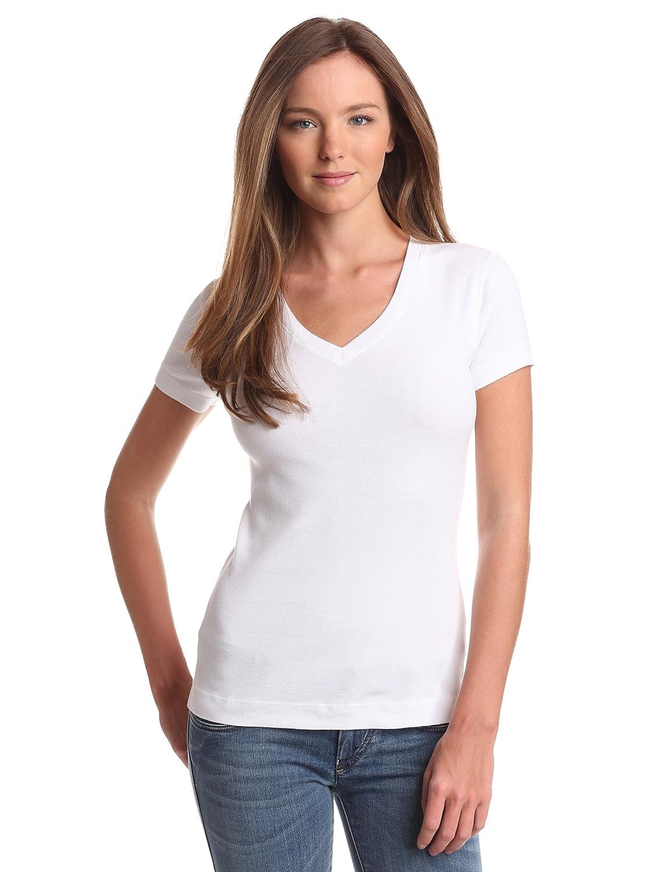 Three Dots Women's V-Neck T-Shirt AA1V100