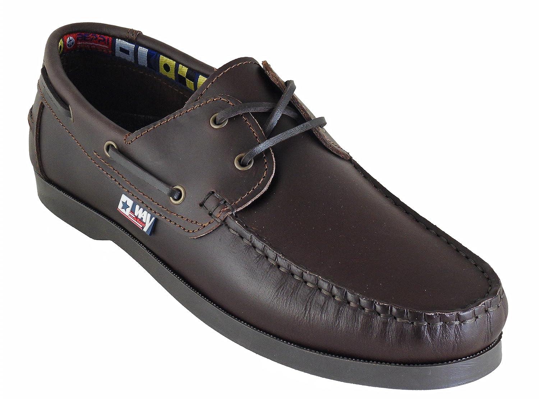 Mocassins Homme Marron Beppi Fabriqu/é au Portugal Chaussures Bateau