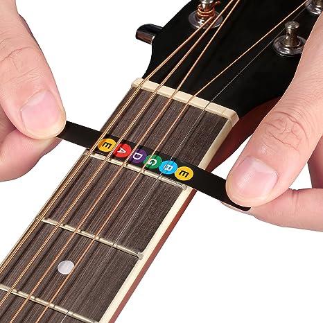 Neewer Nota Pegatinas de notas musicales diapasón trastes mapa etiqueta engomada de guitarra Fretboard para la práctica de aprendizaje para principiantes, ...
