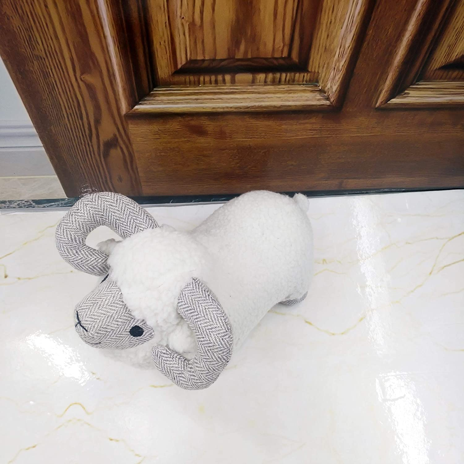 Fabric Animal Door Stopper Decorative Doorstops Goat Lover Gifts Book Stopper Wall Protectors Anti Collision