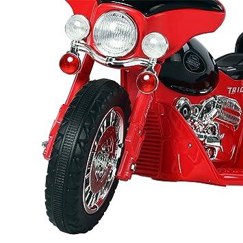 37f9508e5866e HOMCOM Moto Eléctrica Infantil Coche Triciclo Correpasillos a Batería Niños  3-8 años 6V Metal + PP 80x43x54.5cm Rojo  Amazon.es  Juguetes y juegos