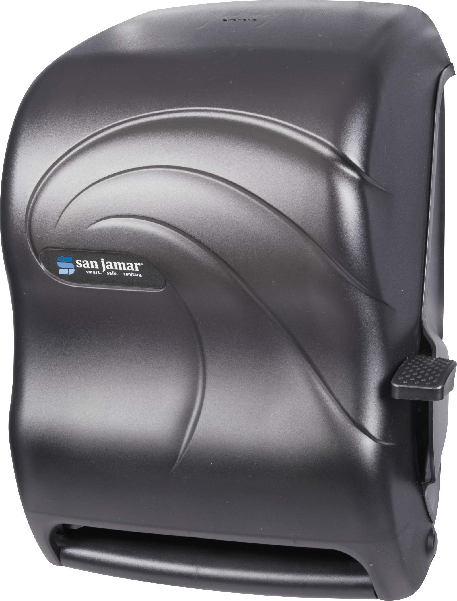 San Jamar T1190TBK Lever Roll Towel Dispenser, Oceans, Black Pearl, 12 15/16w x 9 1/4d x 16 1/2h