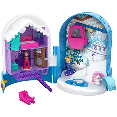 Polly Pocket Big Pocket World, Snowball Surprise: Toys & Games