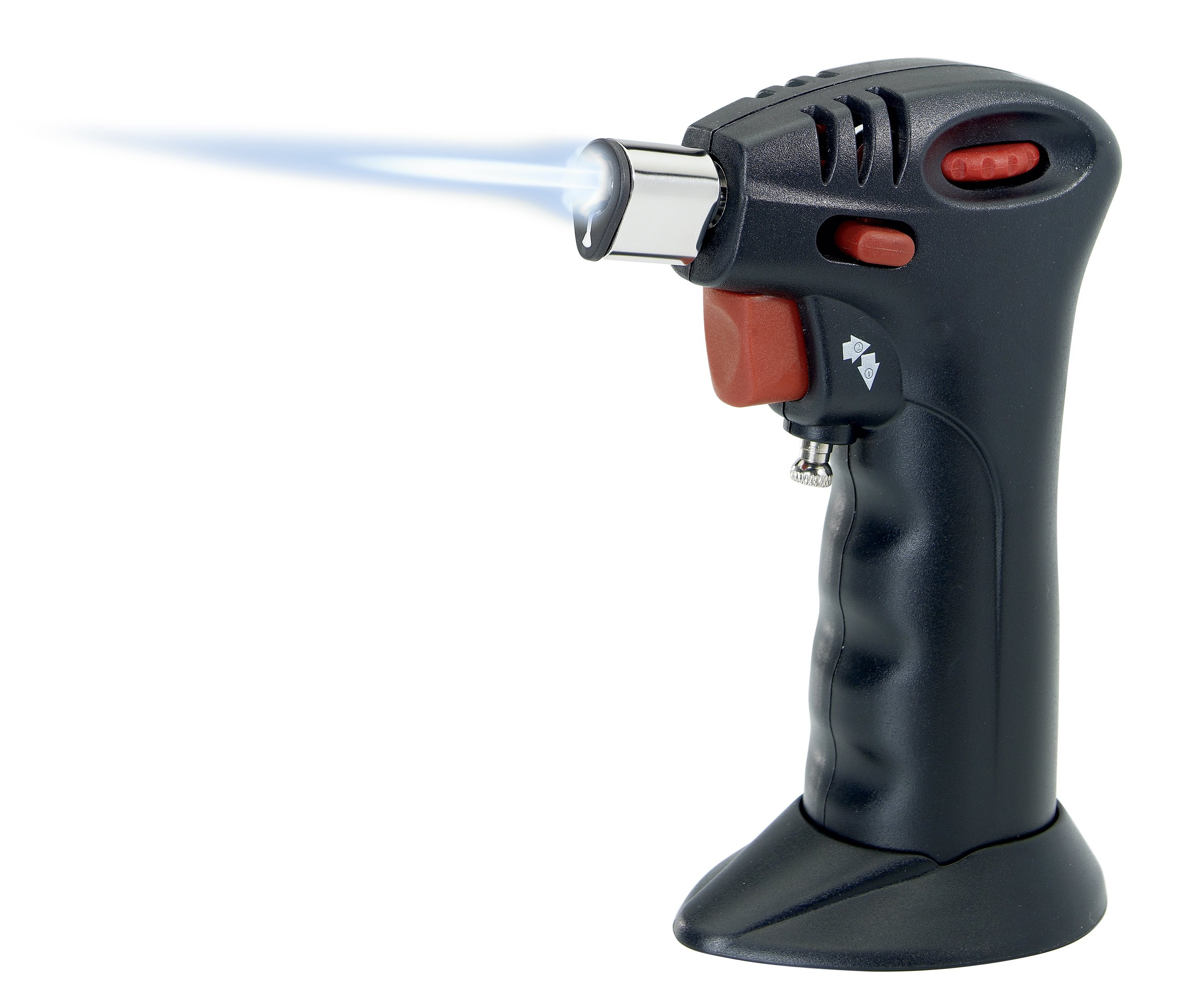 Westmark Germany Professional Culinary Butane Torch with Safety Lock and Adjustable Flame (Black)