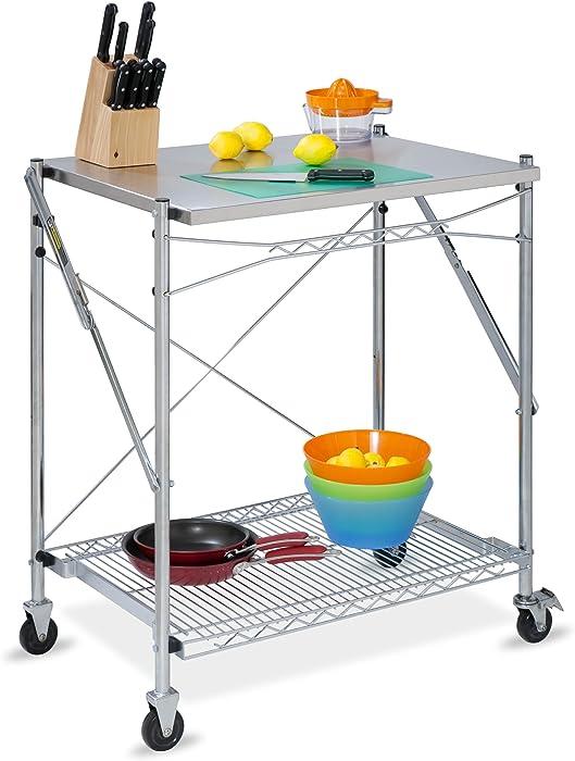 Honey-Can-Do TBL-01566 Stainless Steel Folding Urban Work Table