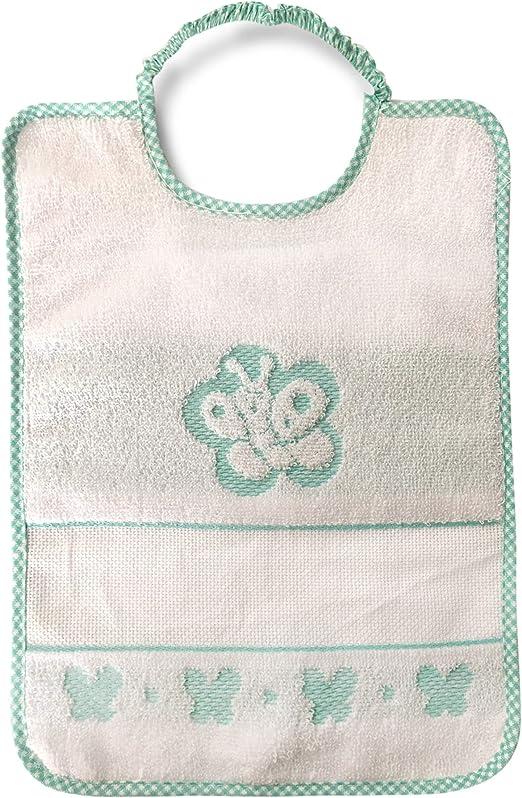 Babero Bebé Mariposa Cierre con goma elástica – 100% algodón – 31 x 23 cm, verde: Amazon.es: Bricolaje y herramientas