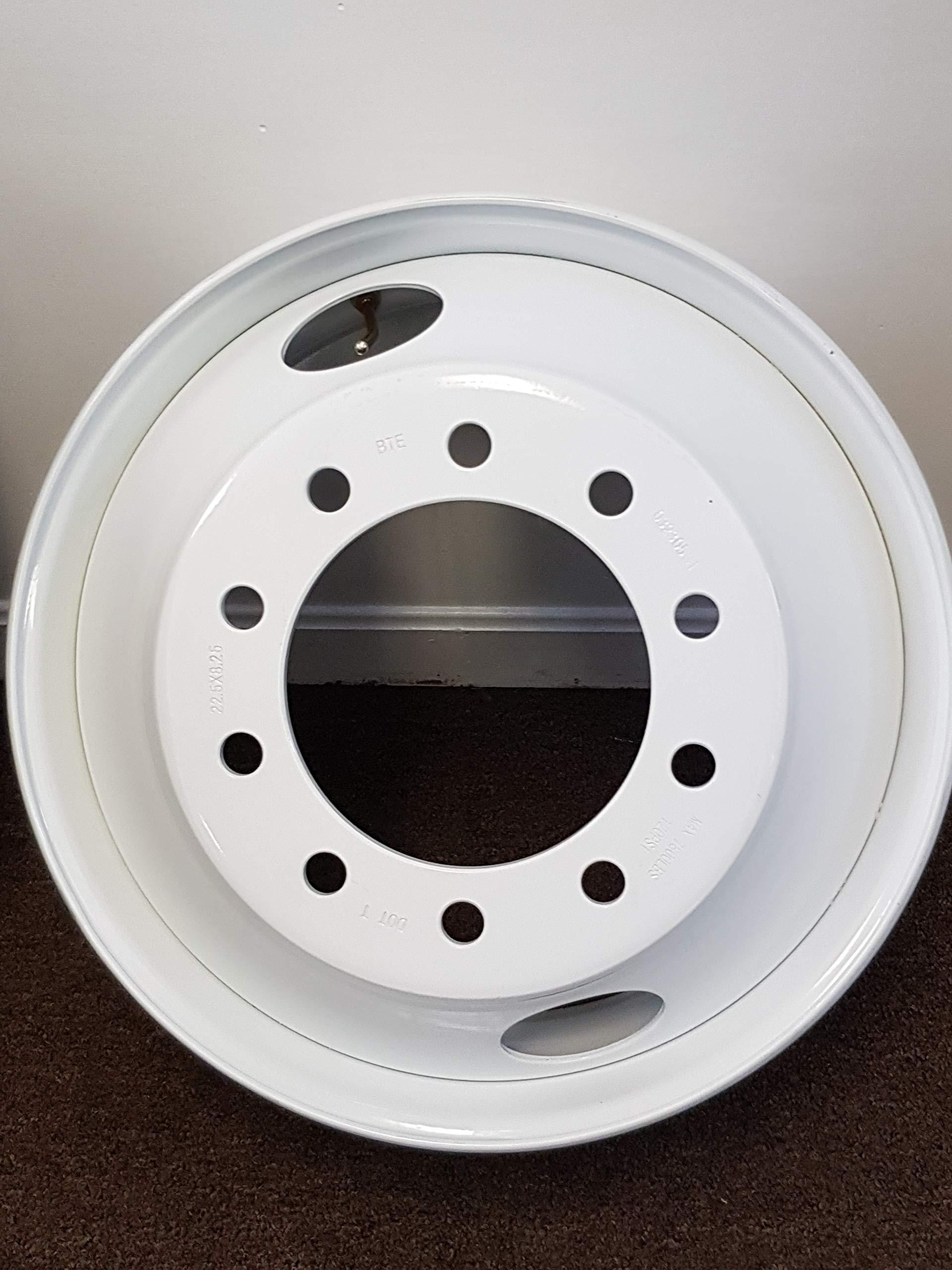 "ROAD WARRIOR STEEL HUB PILOT 24.5"" X 8.25"" 10 Hole WHITE METAL Wheel"