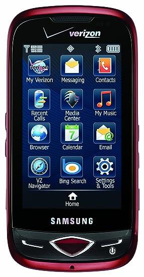 amazon com samsung reality sch u820 phone city red verizon rh amazon com Verizon Wireless Logo Verizon Wireless Customer Service Number