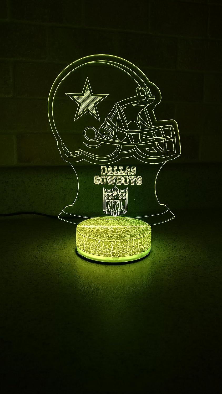 02c97442 Dallas Cowboys LED Night Light 7 Color