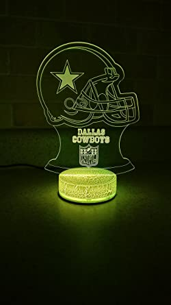 Dallas Cowboys Led Night Light 7 Color
