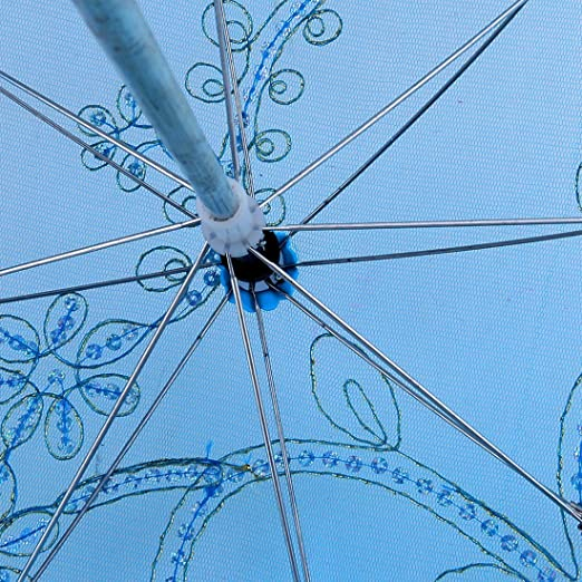 Amazon.com: eDealMax Bordar lentejuelas señora Lace decoración plegable Bailar Festival de boda Paraguas: Home & Kitchen