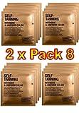 Comodynes - Self Tanning Intensive + Uniform Color - Lingettes Autobronzantes Intensives - Lot de 2 x 8 Lingettes