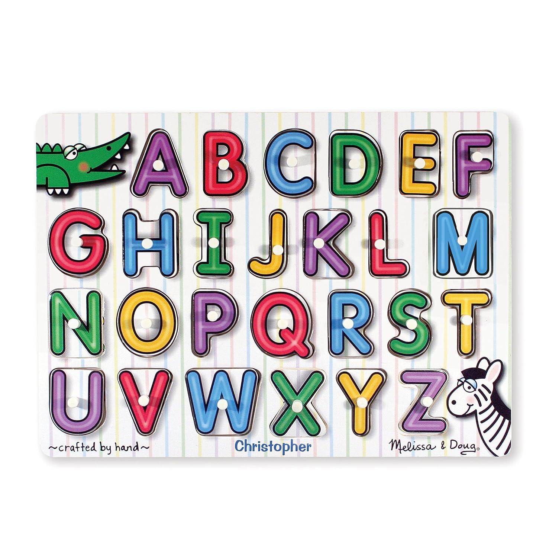 Melissa & Doug See-Inside Alphabet Wooden Peg Puzzle (26 pcs) Melissa and Doug 3272 Puzzles