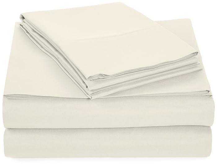 AmazonBasics Microfiber Sheet Set - Queen, Cream
