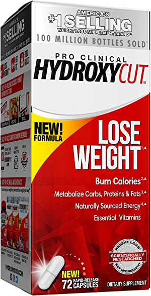 Weight Loss Pills for Women & Men | Hydroxycut Pro Clinical | Weight Loss Supplement Pills | Energy Pills to Lose Weight | Metabolism Booster for Weight Loss | Weightloss & Energy Supplements, 72 Caps