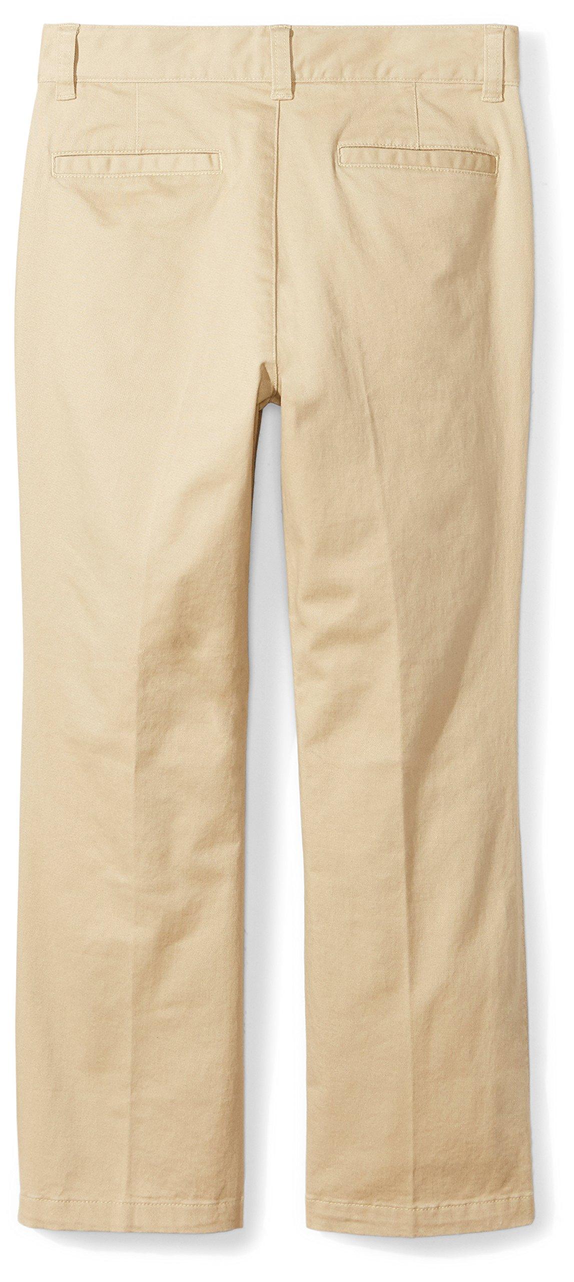 Amazon Essentials Boys' Straight Leg Flat Front Uniform Chino Pant, Khaki,10 by Amazon Essentials (Image #3)