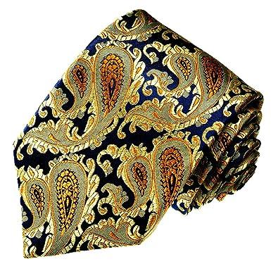 LORENZO CANA - Corbata - Paisley - para hombre azul Blau Gold ...