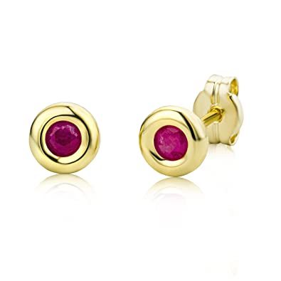 Miore 9 kt (375) Yellow Gold Ball Stud Earrings, 5mm