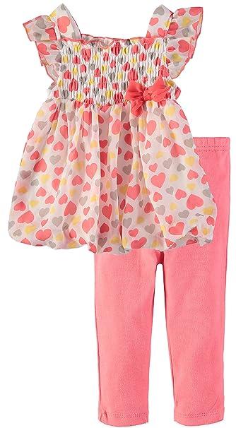 Amazon.com: Bon Bebe Baby Girls 2 Piece Flutter Sleeve ...