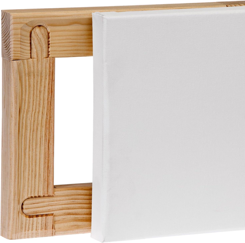 Listelli de 46 x 32 mm Lienzos Levante 04A3225046 Telaio telato in Cotone 3D con imprimatura alchidica grandezza 100 x 65 cm 40M