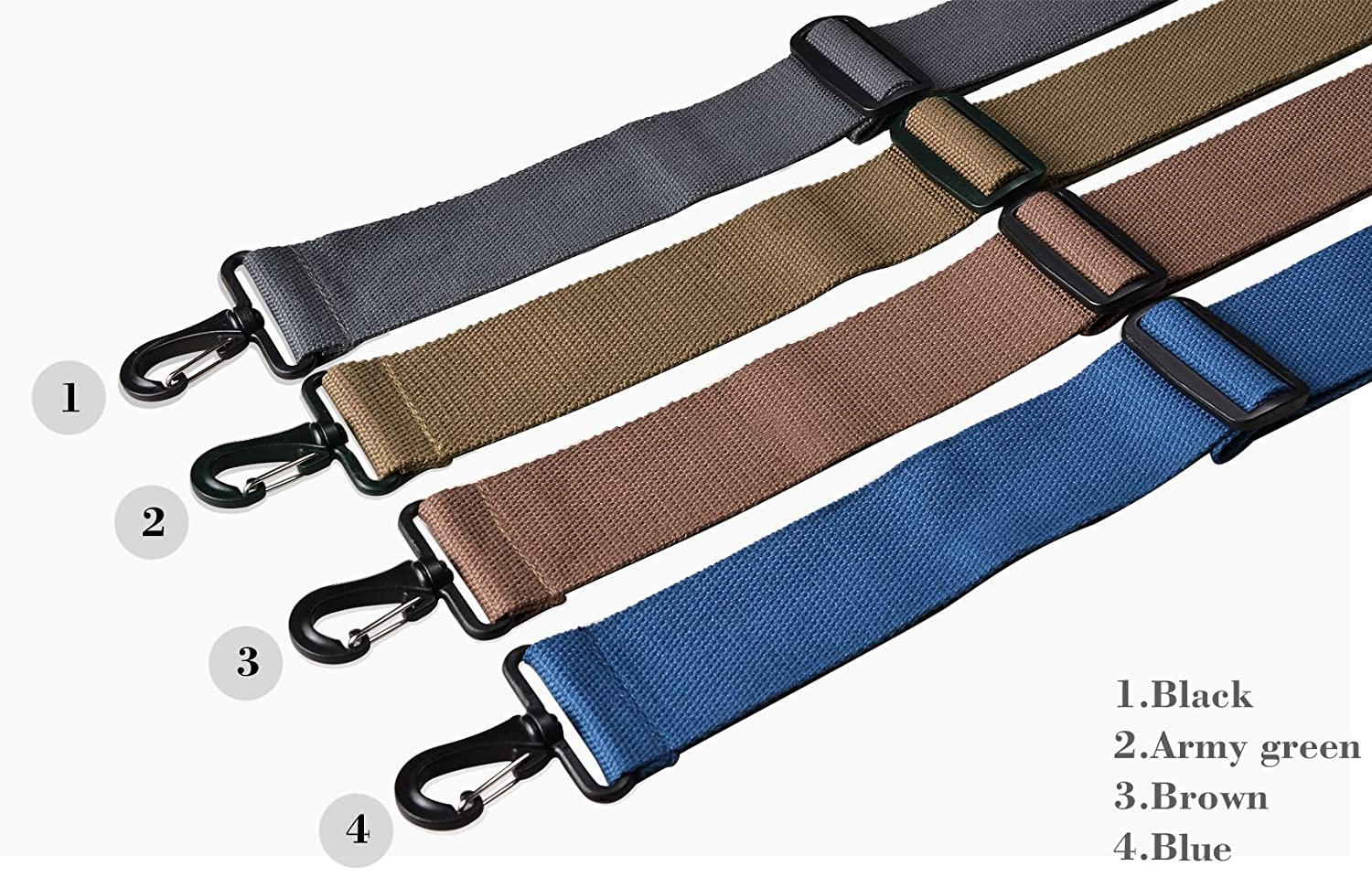 WITZMAN Replacement Shouloder Strap for Travel Luggage Adjustable Bag Strap 2032 H-brown