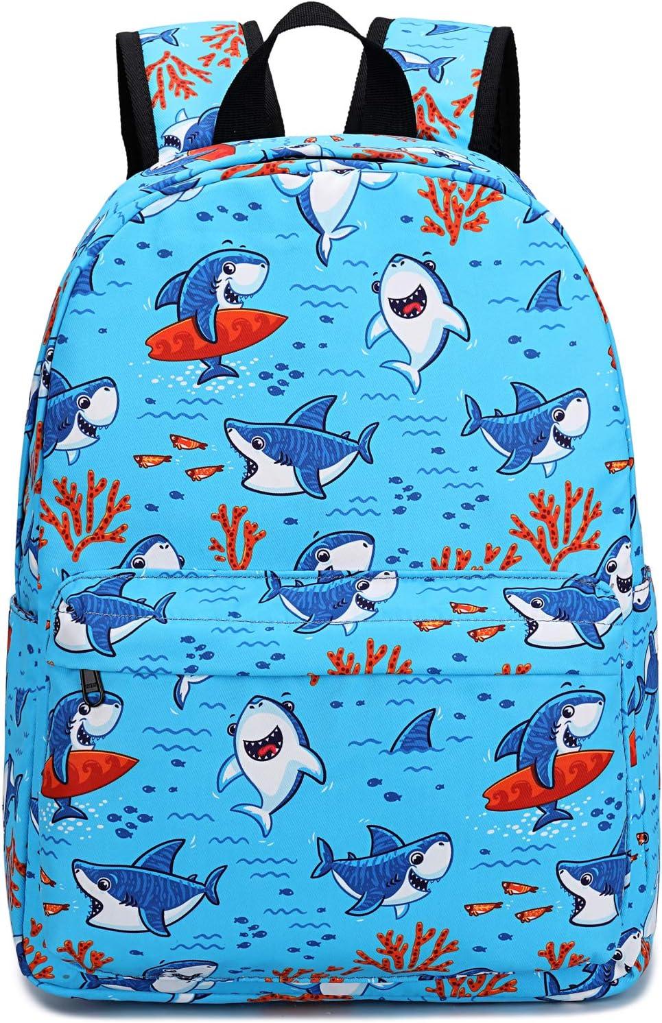 Preschool Backpack for Kids Boys Toddler Backpack Kindergarten School Bookbags (Cute Shark-Blue)