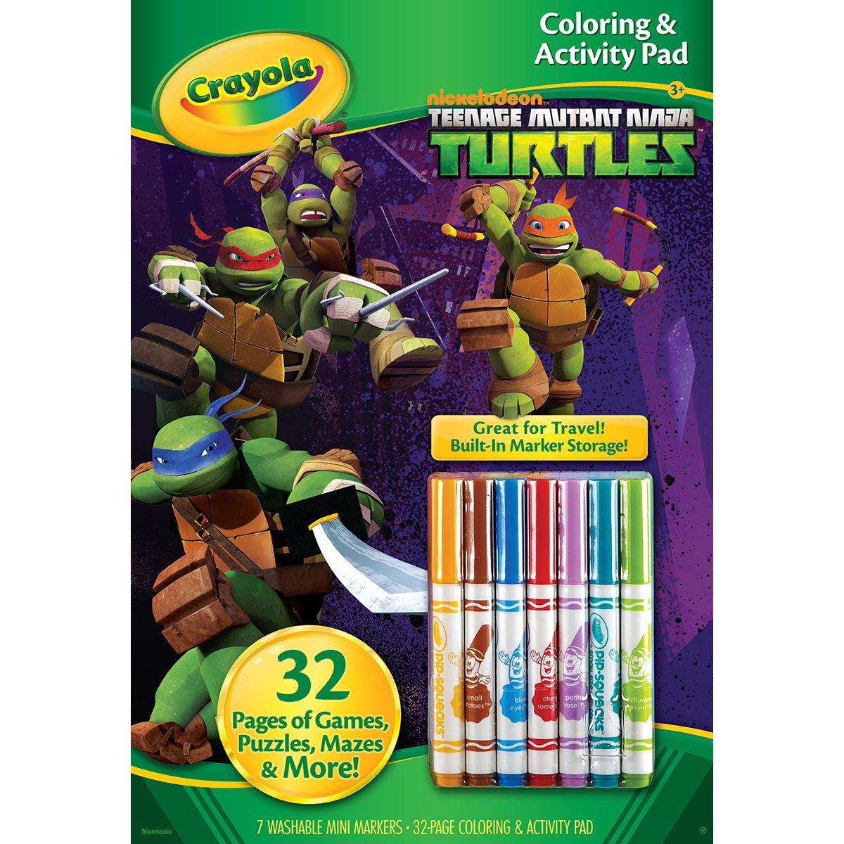 Da colorare Crayola e attività Pad W/marcatori-tartarughe Ninja 04-0208