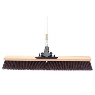 FlexSweep Unbreakable Commercial Push Broom (Contractors 24 Inch) Coarse Bristles