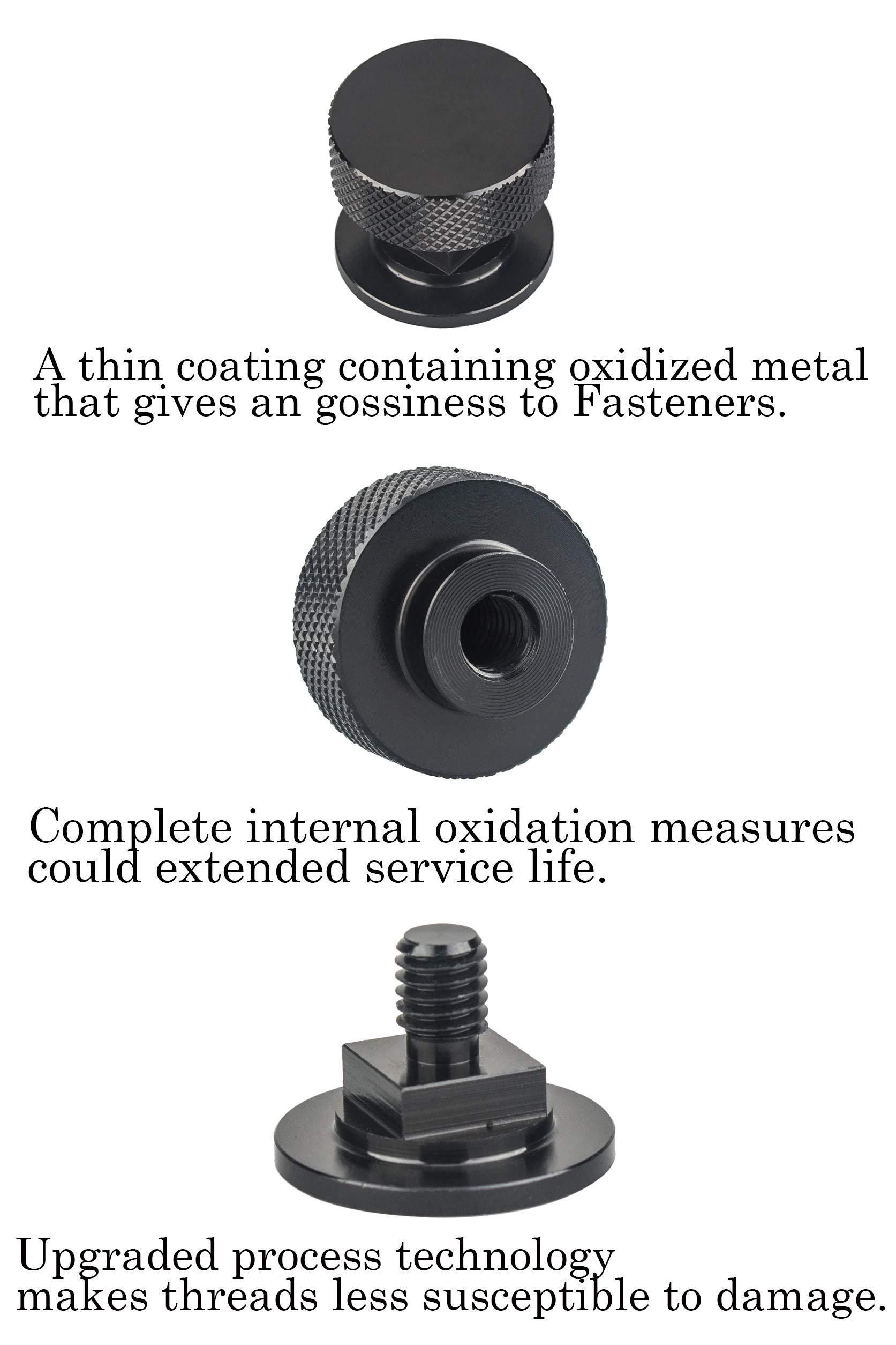 Welding Hood (Pipeliner) Helmet Fasteners Aluminum - 1 Pair (Black Anodized Knurled) by 3mirrors (Image #6)