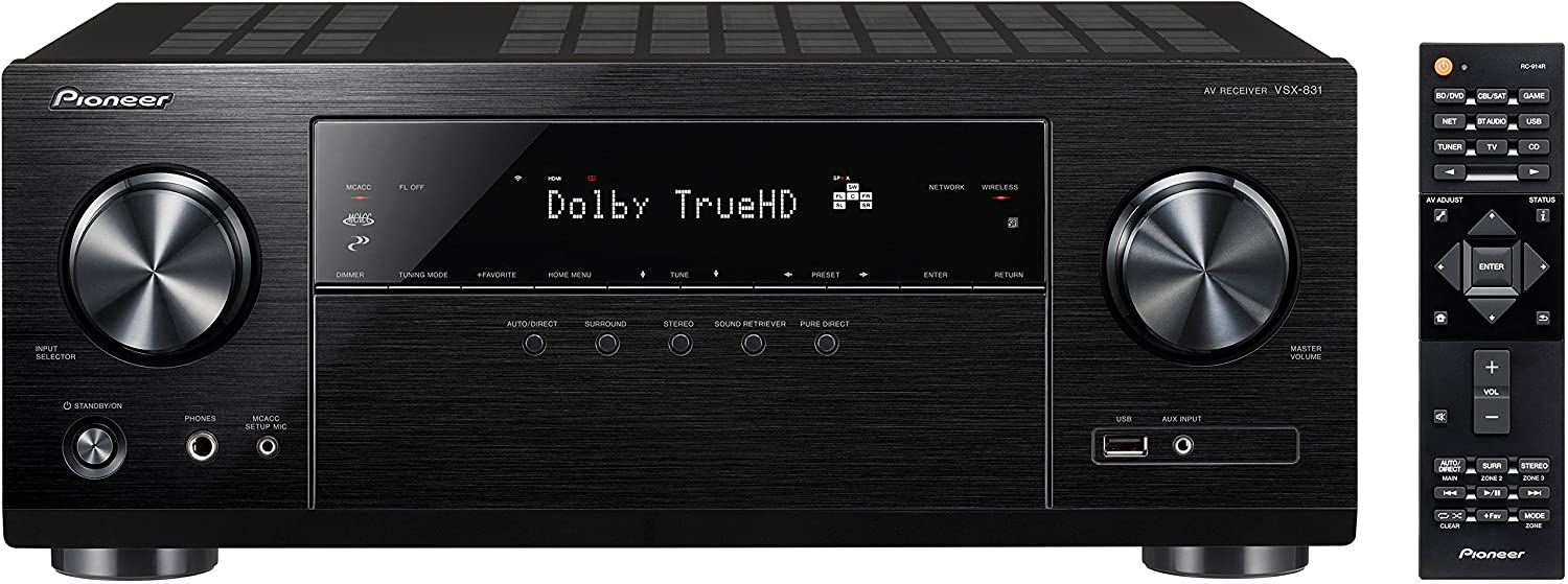Pioneer VSX-831 5 2-Channel AV Receiver with Built-In Bluetooth and Wi-Fi