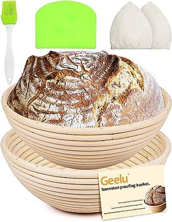 Round Bread Proofing Rattan Basket Proving Baking Brotform Banneton Dough 5 Size