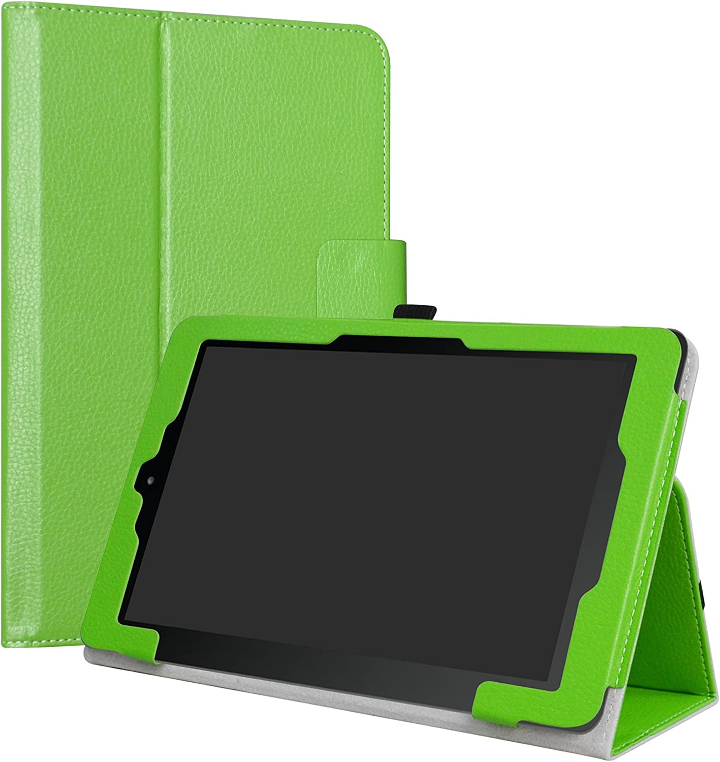 """RCA 10 Viking/II Pro/Cambio W101 V2 Case,LiuShan PU Leather Slim Folding Stand Cover for 10.1"""" RCA 10 Viking Pro/Viking II Pro/Cambio W101 V2 Tablet,Green"""