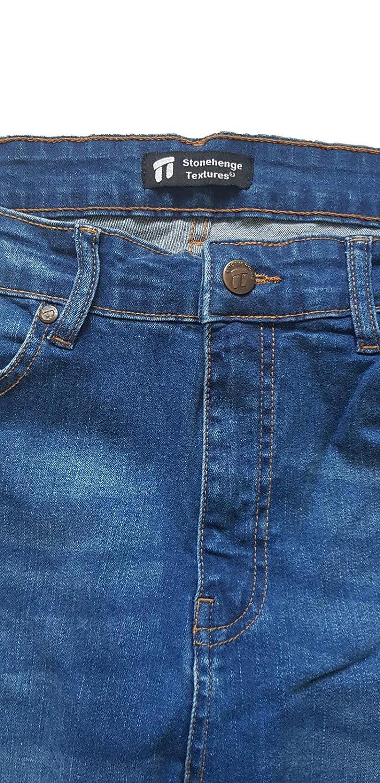 Stonehenge Textures Slim Fit Jeans Pantalones De Mezclilla Ajustados Super Comodos Y Modernos Para Hombres Vaqueros