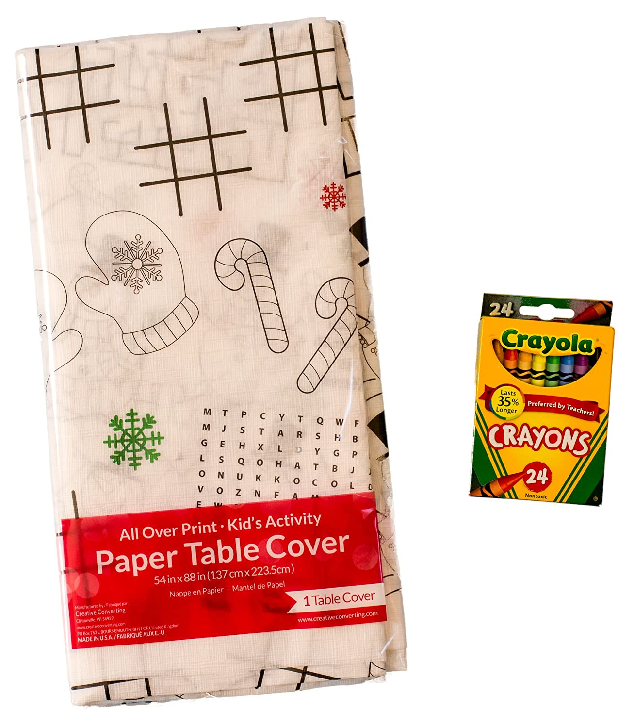 Kids Coloring And Activity Christmas Tablecovertablecloth Bundle