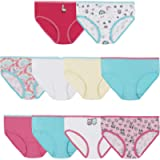 Hanes Girls 100% Cotton Tagless Brief Panties, Multipack