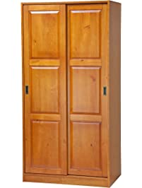 Superb 100% Solid Wood 2 Sliding Door Wardrobe/Armoire/Closet/Mudroom Storage