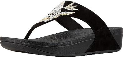 37ed5500d1a FitFlop Women s Lulu Baroque Toe Thong Sandals Black 6 ...