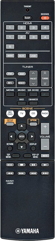 Yamaha RAV521 Audio/Video Receiver Remote Control - Part # ZJ665000