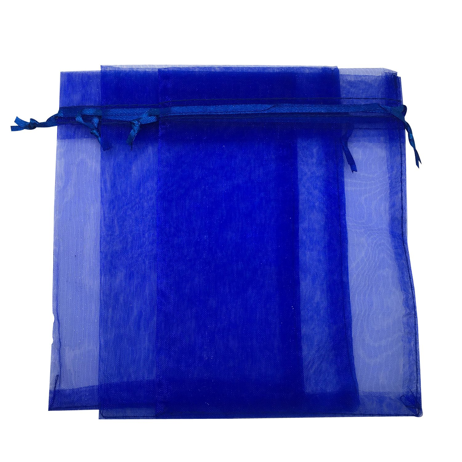 Amazon.com: sungulf 100pcs Organza Pouch Bag Drawstring 5 x ...